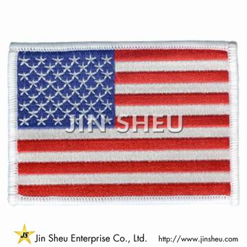 USA Flag Embroidered Patch - USA Flag Embroidered Patch