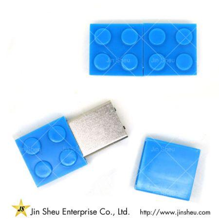 Personalised Plastic USB Flash Band - cute brick usb