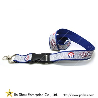 Glittering lanyard with customized printing logos - Glittering lanyard with customized printing logos