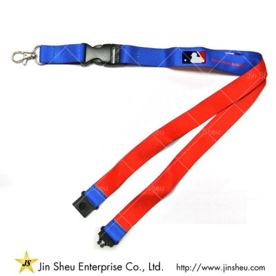 Dual Background Colored Polyester Lanyard - Dual Background Colored Polyester Lanyard