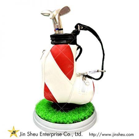 Leather Mini Golf Bag Pen Holder - mini golf bag