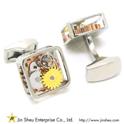 Watch Cuff Links - Square watch movement cufflinks