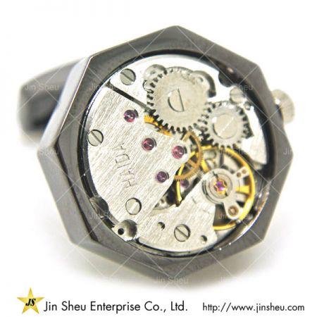 Watch Movement Cufflinks - watch mechanism cufflinks