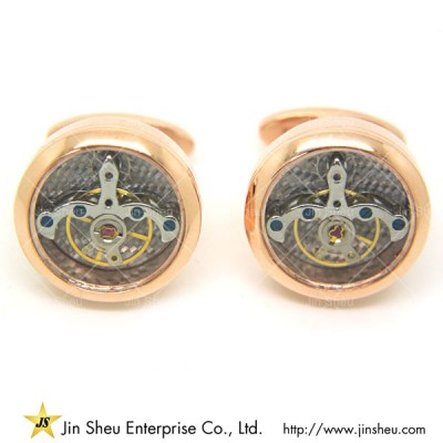 Watch Movement Cuff Links - mechanism watch cufflinks