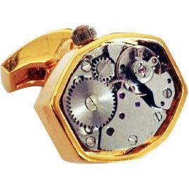Metal Watch Cufflinks - steampunk watch cufflinks