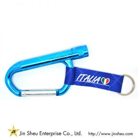 Promotional Carabiner LED Light Keychain - Promotional Carabiner LED Light Keychain