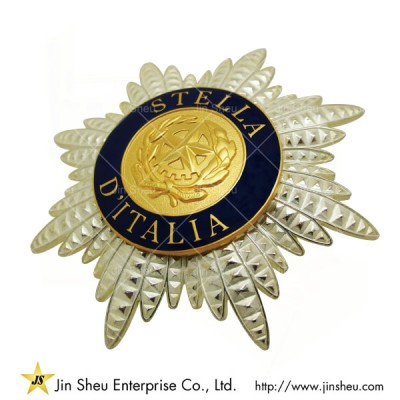 3 Piece Combined Brooch With Safety Pin - Custom Made Police Badges