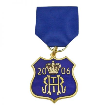 Commemorative Medals With Ribbon Drape - Commemorative Medals With Ribbon Drape