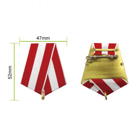 Military Award Drape - Each ribbon drape has a pin back to attach to uniforms and a ring to hold medals.