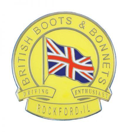 British Flag Car Emblem