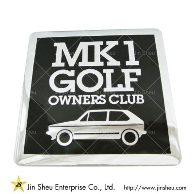 Custom Auto Grille Club Badge