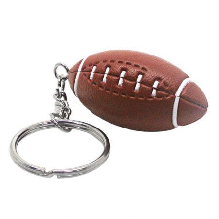 American Football Keyring with Custom Logo - Football Keyring
