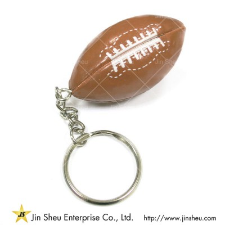 American Football Schlüsselanhänger mit individuellem Logo - Fußball-Schlüsselring