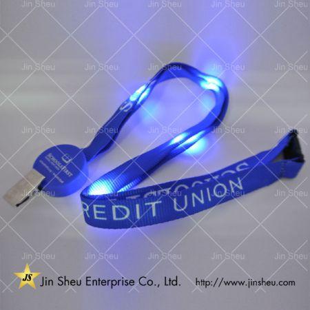 LED Glowing Lanyard with Badge Clip - LED Glowing Lanyard with Badge Clip