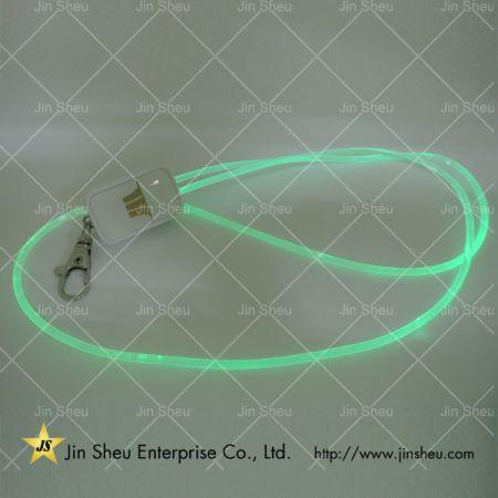 LED Light Up Flashing Neck Strap - LED Light Up Flashing Neck Strap