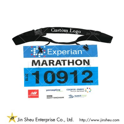 custom race number bibs and race belt