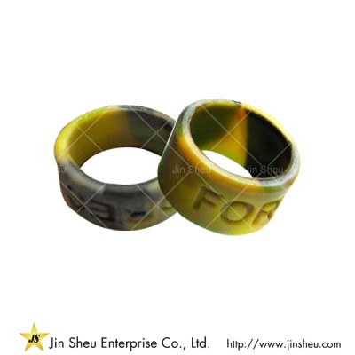 Colour Mixed Camouflage Silicone Ring - Colour Mixed Camouflage Silicone Ring