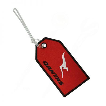 Qantas Airline Embroidered Baggage Tag - Qantas Airline Embroidered Baggage Tag