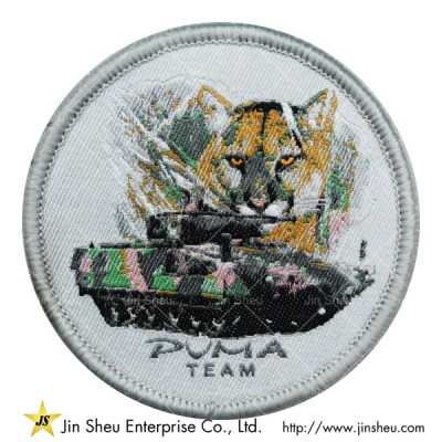 Custom Round Woven Patches - Woven Patches Manufacturer