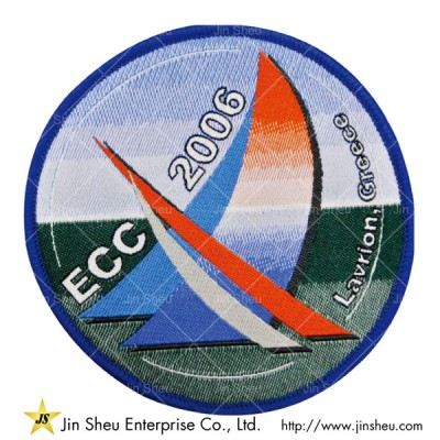 Gradient Sew-on Woven Patch - Customized Woven Patches Gradient Colors Supplier