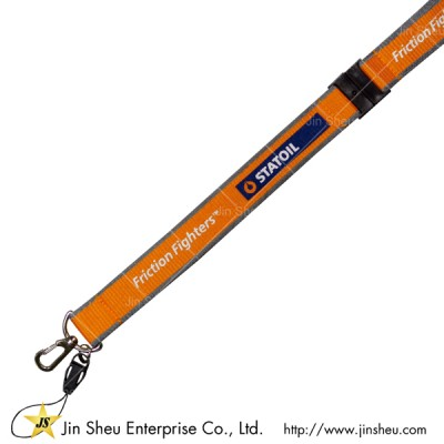Polyester Lanyard with Dual Background Color - Polyester Lanyard with Dual Background Color