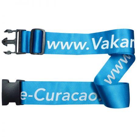 Nylon Luggage Belt With Silkscreen Printing - Nylon Luggage Belt With Silkscreen Printing