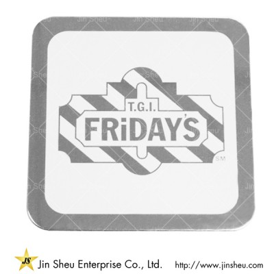 Personalized Restaurant Bar Metal Coaster - Personalized Restaurant Bar Metal Coaster