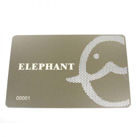 Custom Made Metal Name Card - Silver Membership Card
