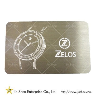 Personalized Metal Business Card - Quality Metal Warranty Card