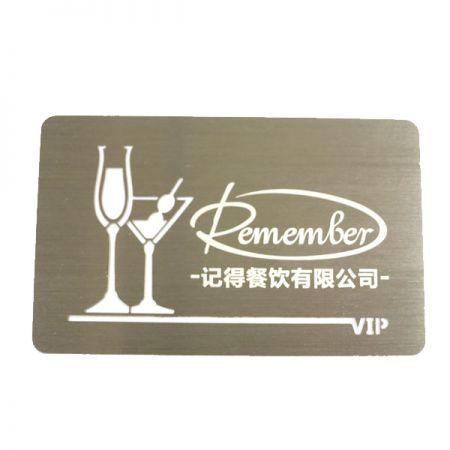 Stainless Steel Member Card - VIP Member Card