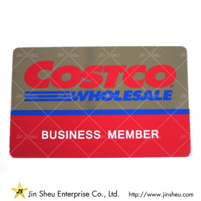 Stainless Steel Business Card - Costco Mirror Effect Business Card