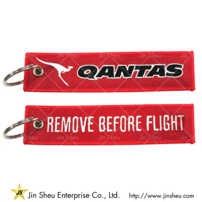 Custom Embroider Jet Tag Keychain - Aviation Remove Before Flight Keychain