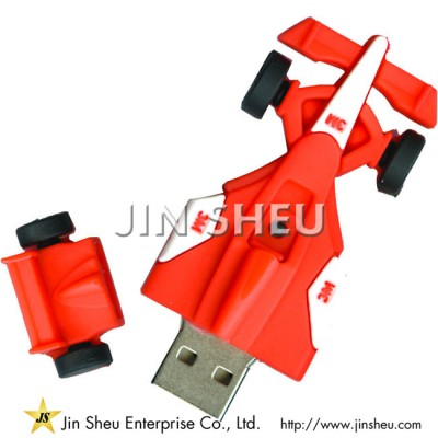Red Racing Car USB Flash Drive - Red Racing Car USB Flash Drive