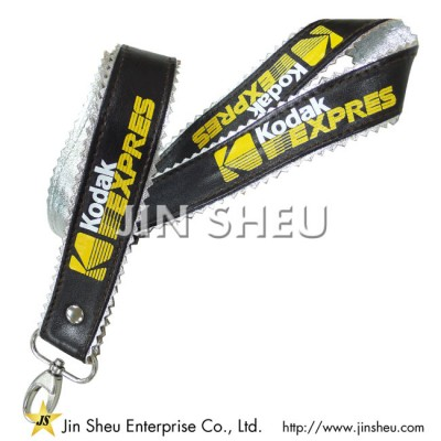 PU leather lanyard (silver) - PU leather lanyard (silver)