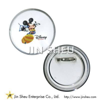 Mickey Mouse Acrylic Button Badge - Mickey Mouse Acrylic Button Badge