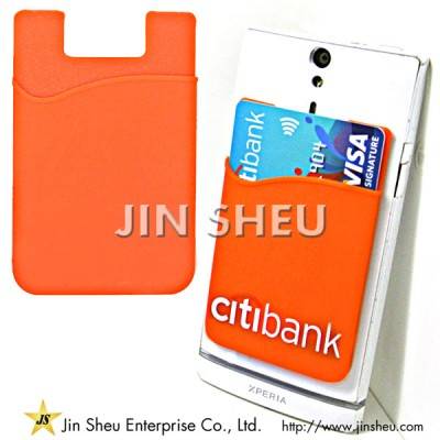 Silicone Phone Card Holder - Mobile Card Holder