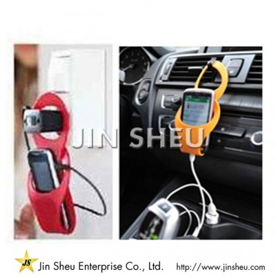 Colorful Silicone Phone Charger Holder - Colorful Silicone Phone Charger Holder