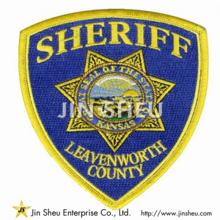 Custom Sew On Sheriff Police Patch - Custom Sew On Sheriff Police Patch