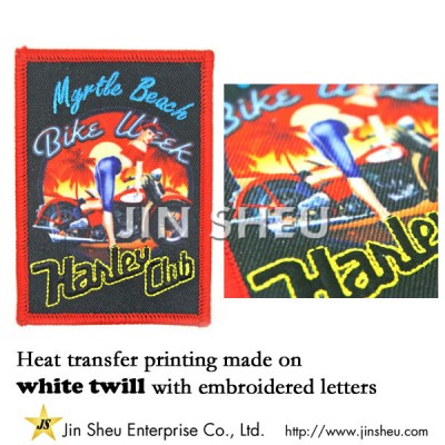 Embroidery Dye Sublimation Patches - Custom Made Heat Transfer Printing Patches