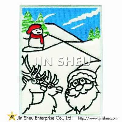 Custom Made Glow In The Dark Patches - Christmas Santa Claus Luminous Patches