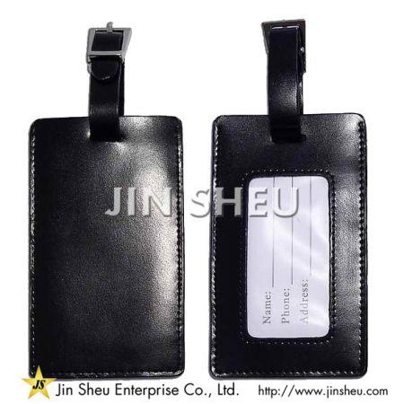 wholesale pu leather bag tags