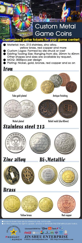 Wholesale Custom Casino Arcade Game Coins - Casino Arcade Game Coins
