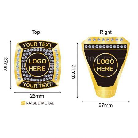 Custom Logo Championship Ring - Custom Logo Championship Ring