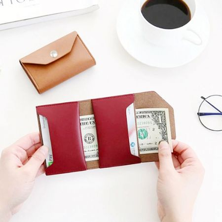 Leather Card Holder - Wholesale Leather Coin Card Holder