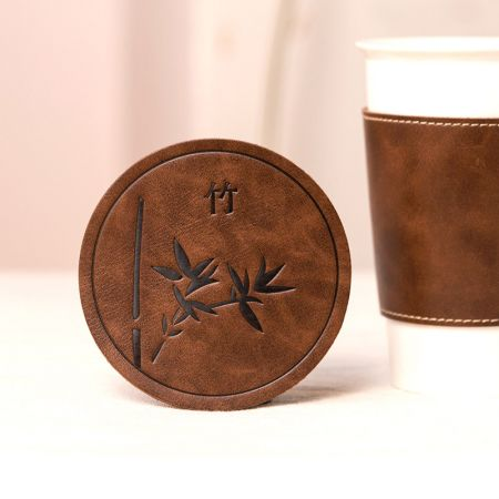 Chinese Style Leather Coaster