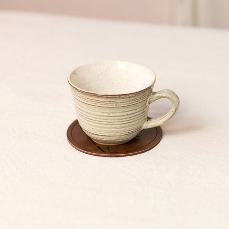 Chinese Style Leather Drink Coaster