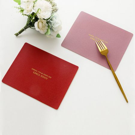 rectangle leather mat