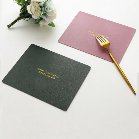 rectangle leather placemat