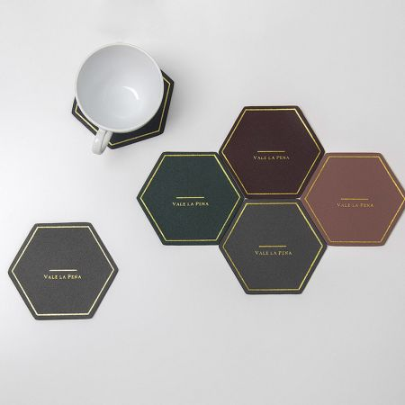 hive style leather coaster