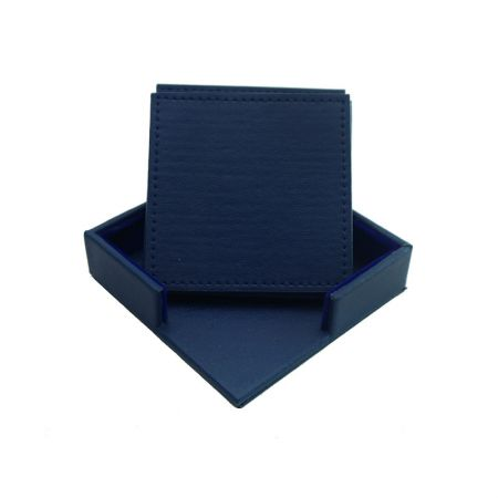 square leather placemat set